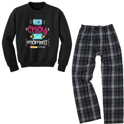 Enjoy This Moment Youth Sweatshirt Pajama Set Designed By Gnuh79