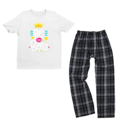 Be The Boss Youth T-shirt Pajama Set Designed By Gnuh79