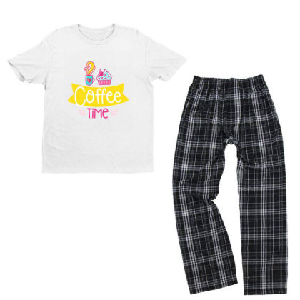 Coffee Time Youth T-shirt Pajama Set Designed By Gnuh79