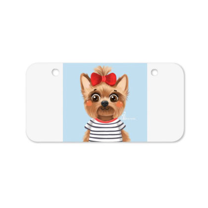 Dog Girl Bicycle License Plate Designed By Barzilova Alyona