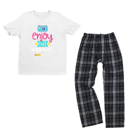 Enjoy This Moment Youth T-shirt Pajama Set Designed By Gnuh79