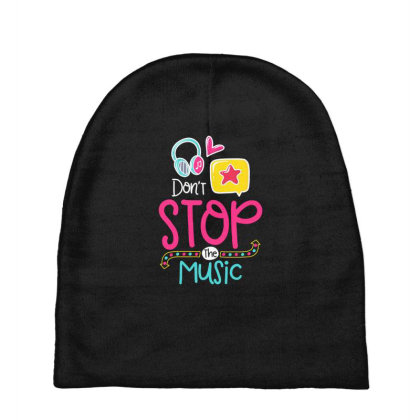 Don't Stop The Music Baby Beanies Designed By Gnuh79