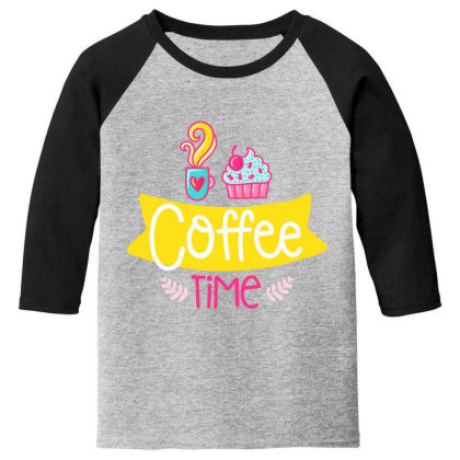 Coffee Time Youth 3/4 Sleeve Designed By Gnuh79