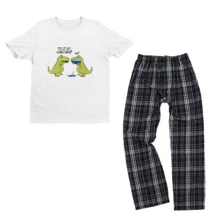 Funny Did You Eat The Last Unicorn Dinosaur Youth T-shirt Pajama Set Designed By Rame Halili