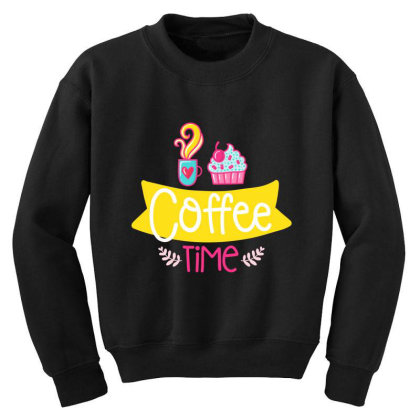 Coffee Time Youth Sweatshirt Designed By Gnuh79