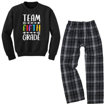 Team Fifth Grade T Shirt 5th Grade Teacher Student Gift Youth Sweatshirt Pajama Set Designed By Rame Halili