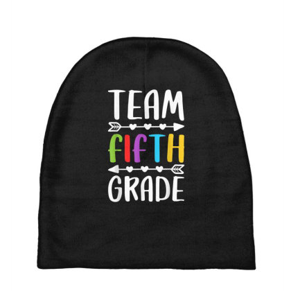 Team Fifth Grade T Shirt 5th Grade Teacher Student Gift Baby Beanies Designed By Rame Halili