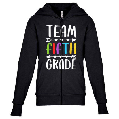 Team Fifth Grade T Shirt 5th Grade Teacher Student Gift Youth Zipper Hoodie Designed By Rame Halili