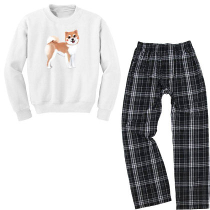 Dog Shiba Youth Sweatshirt Pajama Set Designed By Barzilova Alyona