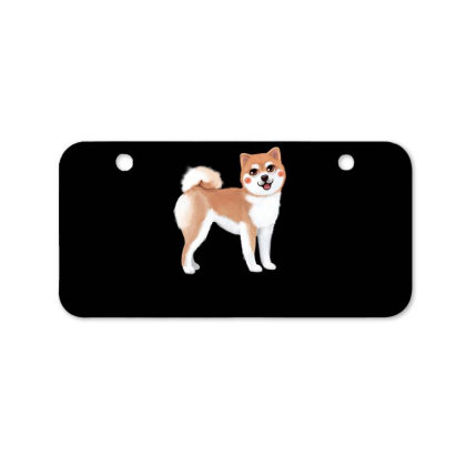 Dog Shiba Bicycle License Plate Designed By Barzilova Alyona