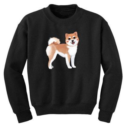 Dog Shiba Youth Sweatshirt Designed By Barzilova Alyona