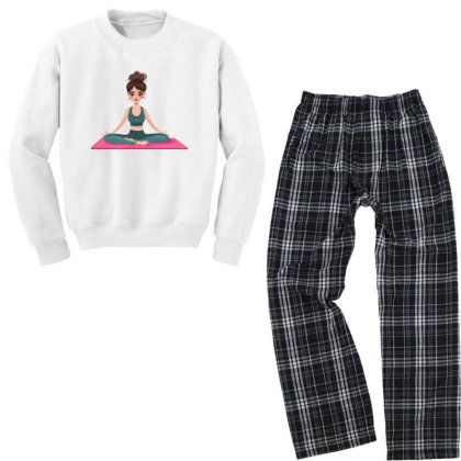 Yoga Girl Youth Sweatshirt Pajama Set Designed By Barzilova Alyona