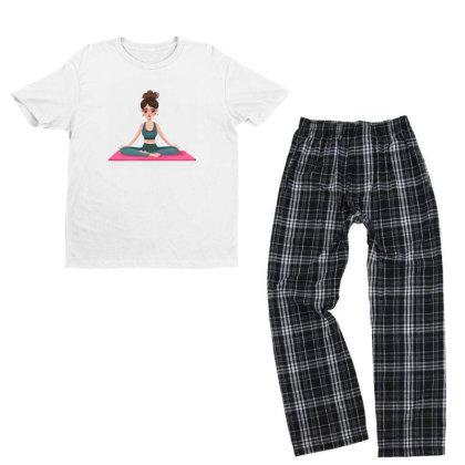 Yoga Girl Youth T-shirt Pajama Set Designed By Barzilova Alyona