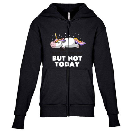 Born To Sparkle But Not Today Funny Unicorn Gift Youth Zipper Hoodie Designed By Eduely
