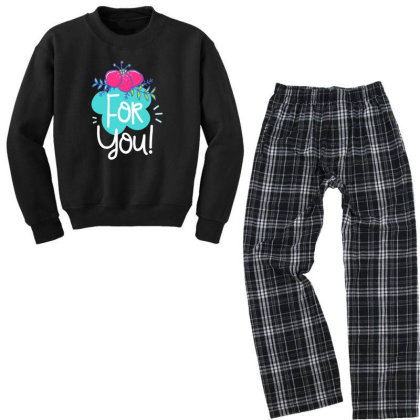 For You Youth Sweatshirt Pajama Set Designed By Gnuh79