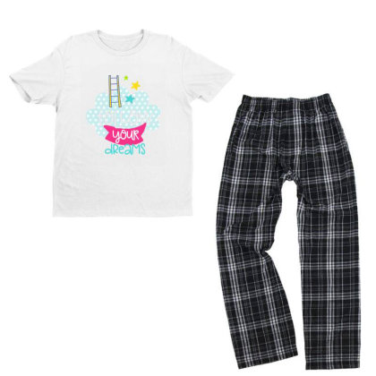Follow Your Dreams Youth T-shirt Pajama Set Designed By Gnuh79