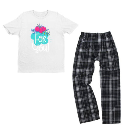 For You Youth T-shirt Pajama Set Designed By Gnuh79