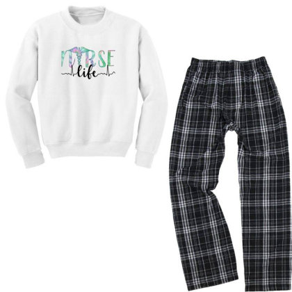 Nurse Life Youth Sweatshirt Pajama Set Designed By Akin