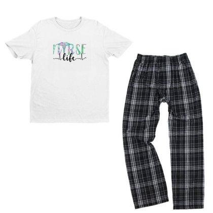 Nurse Life Youth T-shirt Pajama Set Designed By Akin