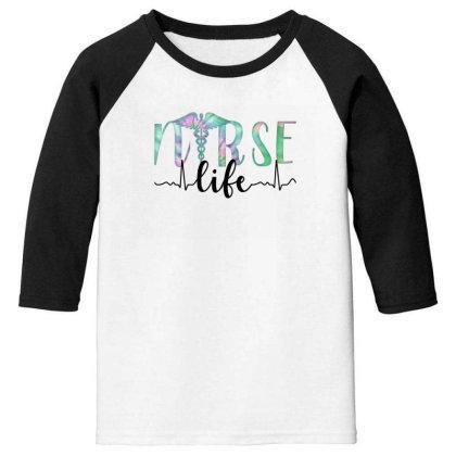 Nurse Life Youth 3/4 Sleeve Designed By Akin
