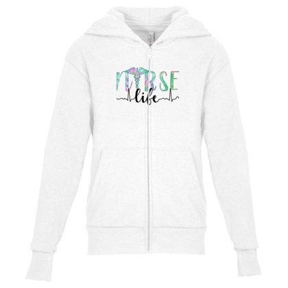 Nurse Life Youth Zipper Hoodie Designed By Akin