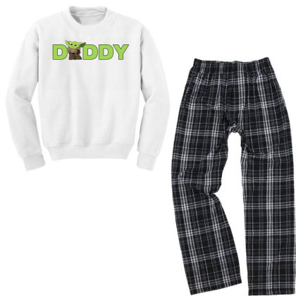 Daddy Yoda Youth Sweatshirt Pajama Set Designed By Akin