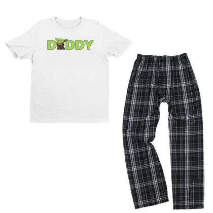 Daddy Yoda Youth T-shirt Pajama Set Designed By Akin