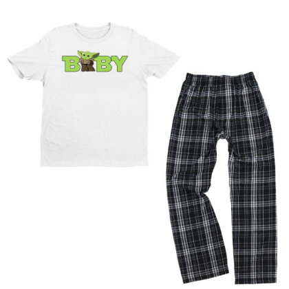 Baby Yoda Youth T-shirt Pajama Set Designed By Akin