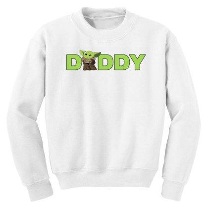 Daddy Yoda Youth Sweatshirt Designed By Akin