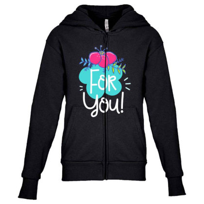 For You Youth Zipper Hoodie Designed By Gnuh79