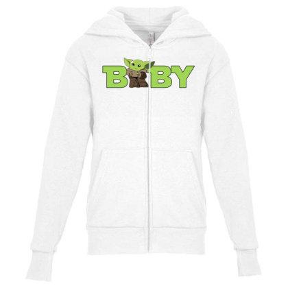 Baby Yoda Youth Zipper Hoodie Designed By Akin