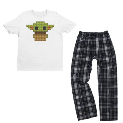 8bit Yoda Youth T-shirt Pajama Set Designed By Akin