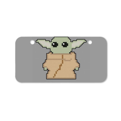 Pixel Yoda Bicycle License Plate Designed By Akin