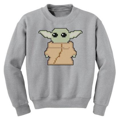 Pixel Yoda Youth Sweatshirt Designed By Akin