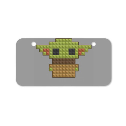 8bit Yoda Bicycle License Plate Designed By Akin
