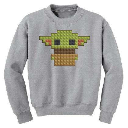 8bit Yoda Youth Sweatshirt Designed By Akin