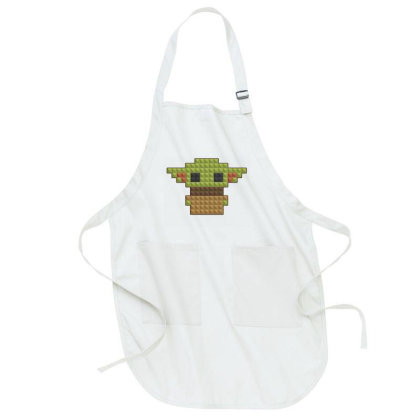 8bit Yoda Full-length Apron Designed By Akin