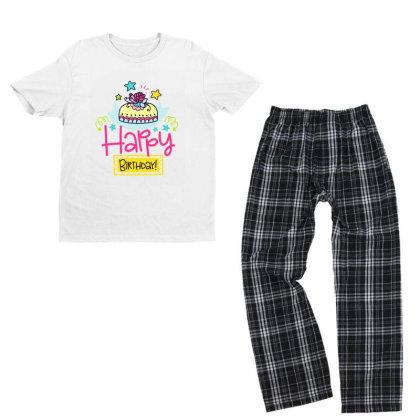 Happy Birthday Youth T-shirt Pajama Set Designed By Gnuh79
