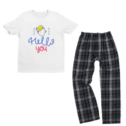 Hello You Youth T-shirt Pajama Set Designed By Gnuh79