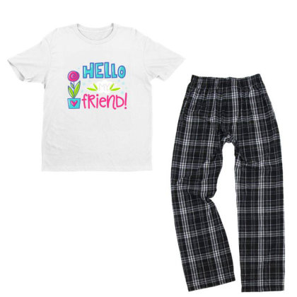 Hello My Frirend Youth T-shirt Pajama Set Designed By Gnuh79