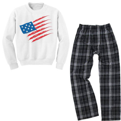 United States Youth Sweatshirt Pajama Set Designed By Chiks