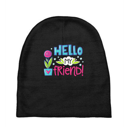 Hello My Frirend Baby Beanies Designed By Gnuh79