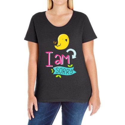 I Am Sorry Ladies Curvy T-shirt Designed By Gnuh79
