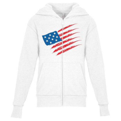 United States Youth Zipper Hoodie Designed By Chiks