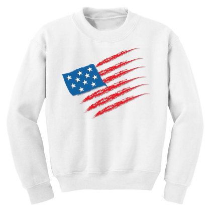 United States Youth Sweatshirt Designed By Chiks
