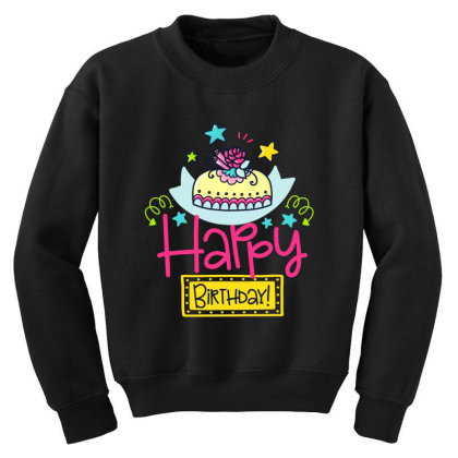 Happy Birthday Youth Sweatshirt Designed By Gnuh79