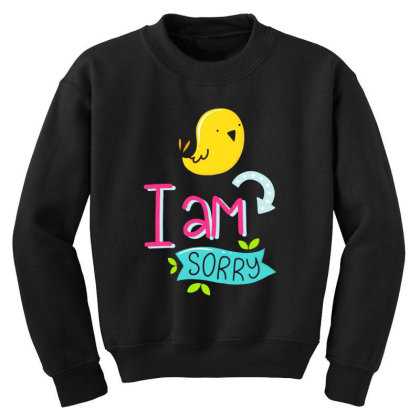 I Am Sorry Youth Sweatshirt Designed By Gnuh79