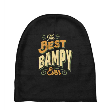 Mens Funny Fathers Day The Best Bampy Ever Baby Beanies Designed By Cidolopez