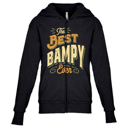 Mens Funny Fathers Day The Best Bampy Ever Youth Zipper Hoodie Designed By Cidolopez