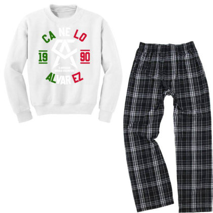 Team Canelo Mexico Alvarez Youth Sweatshirt Pajama Set Designed By Elasting